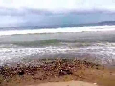 caticlan sea shore . waves due to YOLANDA typhoon 11/7/2013