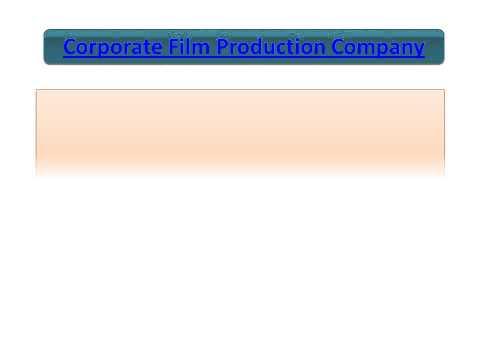 Corporate Film Production Company