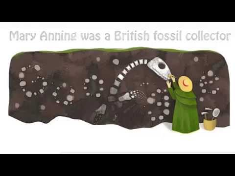 Mary Anning's 215th Birthday Google Doodle