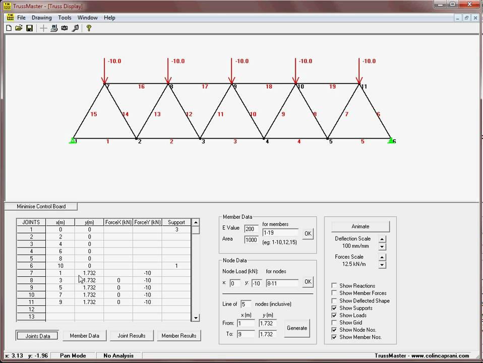 truss analysis Truss analysis: method of joints evaluate an individual joint or pin connection •treat each joint as a 2d particle in equilibrium •can have a maximum of two .