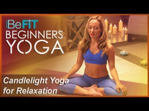 PM Candlelight Yoga for Relaxation & Meditation | BeFiT Beginners Yoga- Kino MacGregor