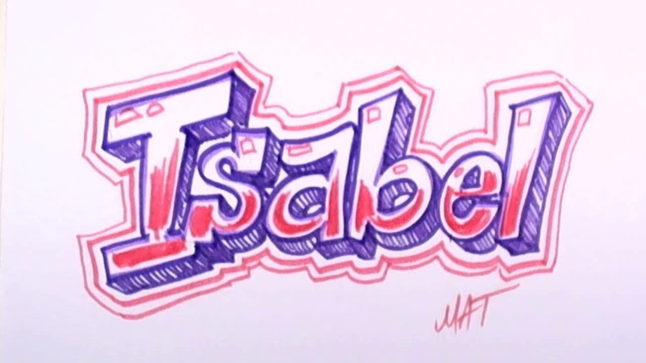 Graffiti Writing Isabel Name Design 33 In 50 Names