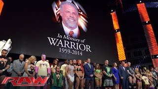 A Tribute To The Memory Of The Ultimate Warrior: Raw