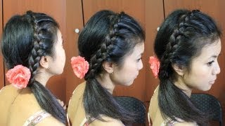 Lace Braid Headband Hairstyle For Medium Long Hair