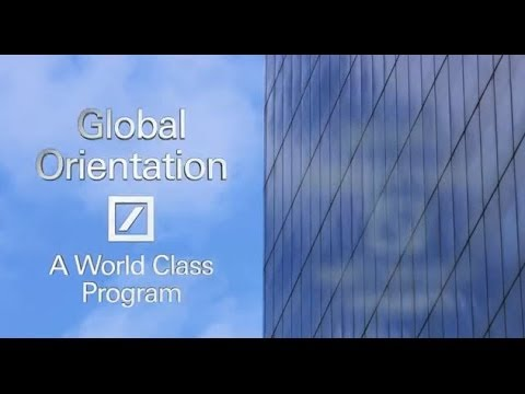 Deutsche Bank Careers - Global Graduate Orientation 2013