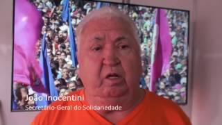 João Inocentini fala sobre a reforma da Previdência no 1° de Maio