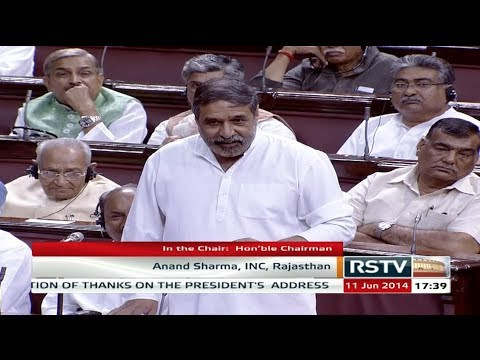 Anand Sharma's speech in the Motion of Thanks on President's Address