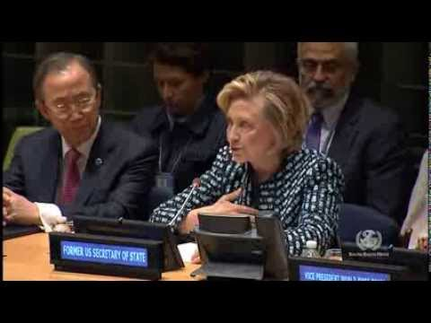 Hillary Clinton Joins UN Panel on International Women's Day