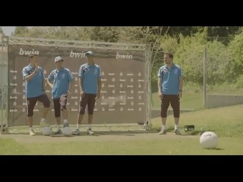 Real Madrid stars show off their football - soccer skills on the golf course, playing FootGolf!