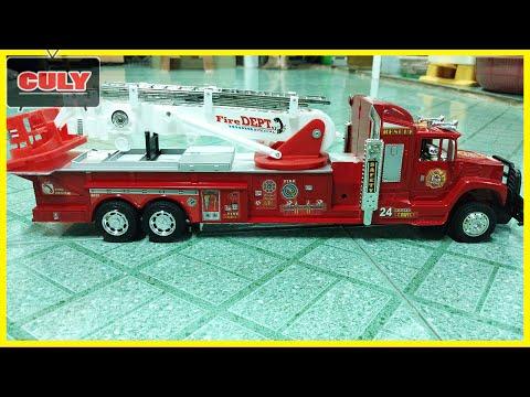 Xe cứu hỏa đồ chơi trẻ em chửa cháy - Fire truck car toy for childrens