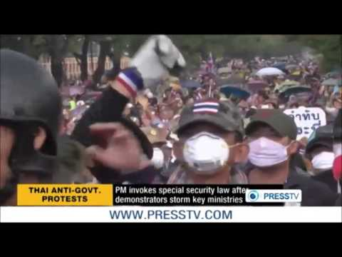 กำนันสุเทพ Thailand Protests PM declares emergency law for Bangkok