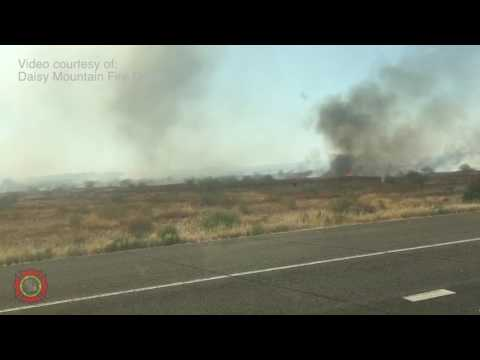 Wind Whips Up a Fire Whirl in North Phoenix Wildfire