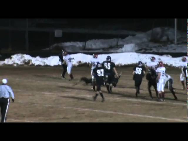 11-4-11 - Kyle Rosenbrock scores his 2nd TD of the game (Brush 28, Estes Park 0)