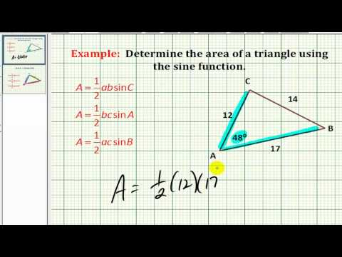 Example: Determine the Area of a Triangle Using the Sine Function
