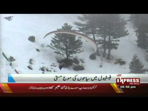 snow festival pakistan in malam jabba swat valley