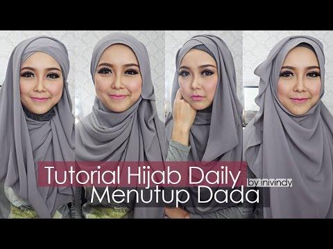 Tutorial Hijab Sehari-hari Hijabstyle Menutup Dada by Inivindy Video ...