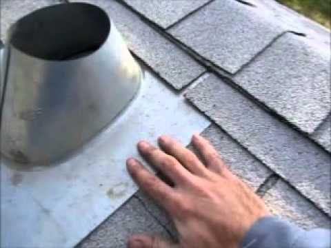 How To Install A Roof Vent Flashing For A Furnace Chimney