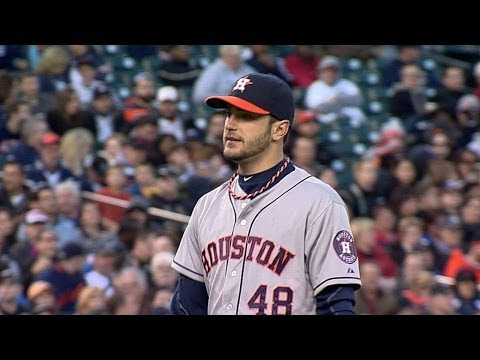 HOU@DET: Cosart holds Tigers to one unearned run