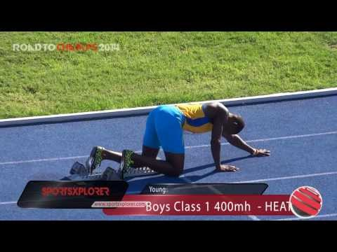 STETHS Marvin Williams wins Boys Class 1 400mh - Youngster Goldsmith - ROAD TO CHAMPS 2014