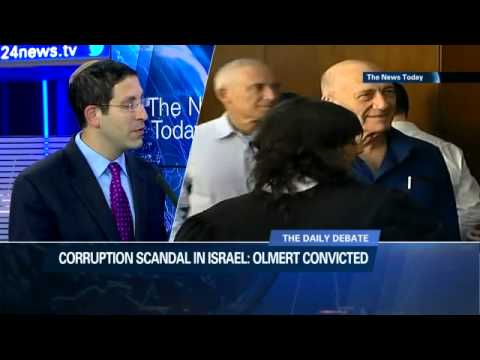 Corruption scandal in Israel: fmr Israeli PM Olmert convicted 31/04/2014