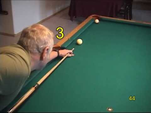 Pool and billiards progressive practice draw shot (backspin) drills, from VEPP I (NV C.3)
