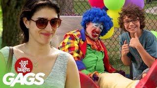 Opitý klaun nemá rád deti - skrytá kamera