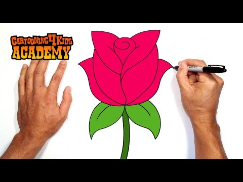 How to Draw a Rose Easy - Open Rose Art Tutorial - Easy ... How To Draw A Rose For Mothers Day