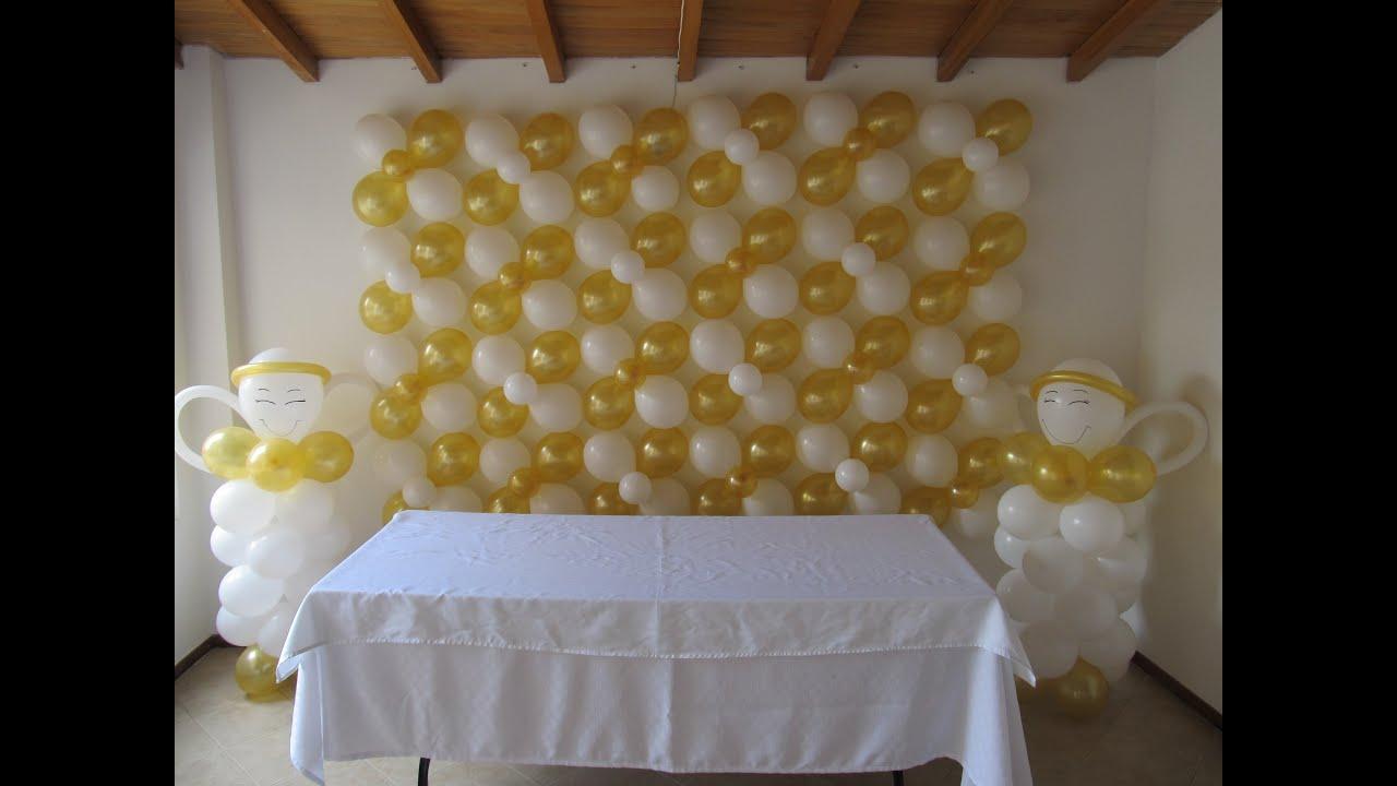 Decoracion primera comunion arco pared uvas lamparas con - Decoracion fiesta comunion ...