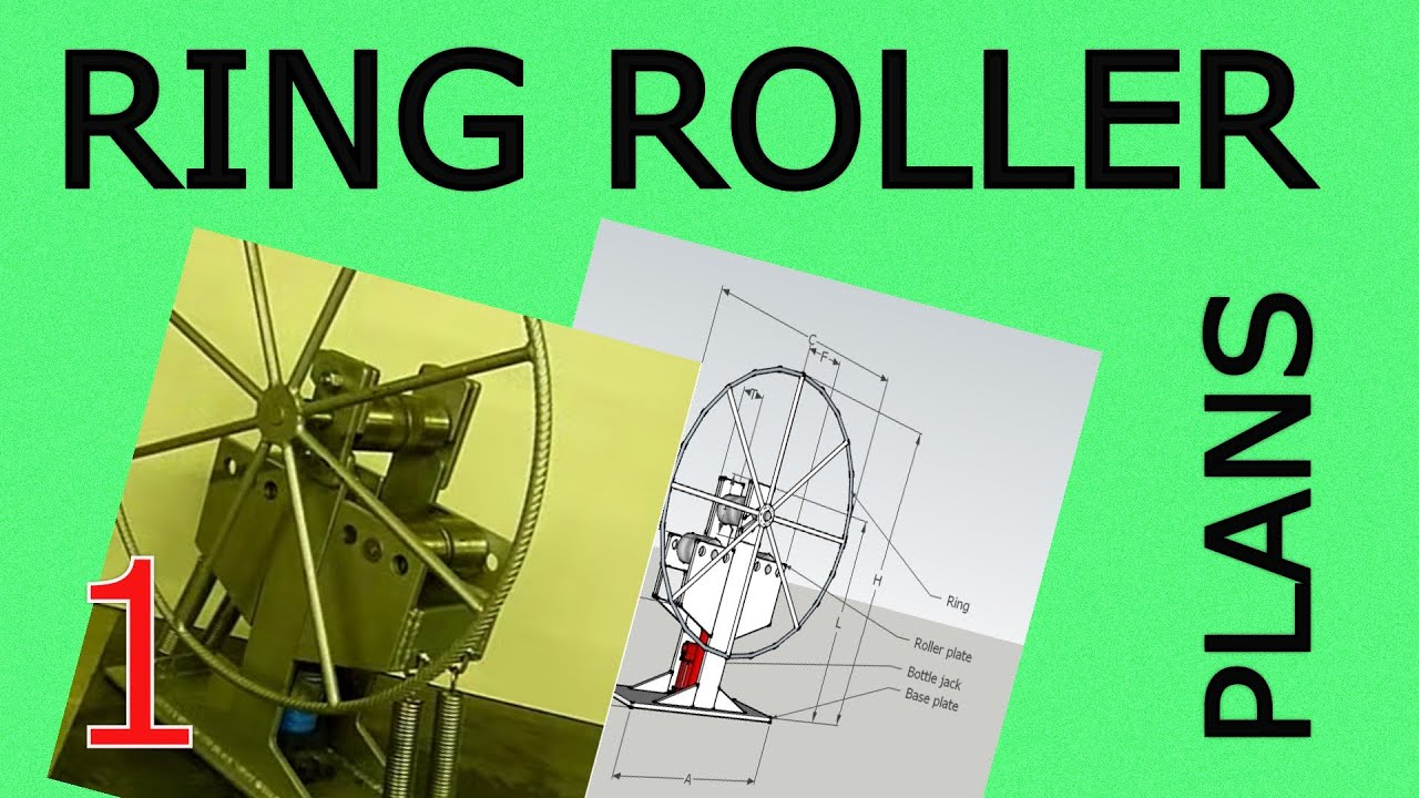 diy ring roller with hydraulic jack plans available youtube