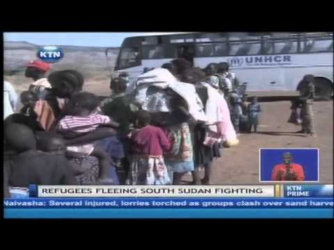 South sudan refugees flock into Kenya