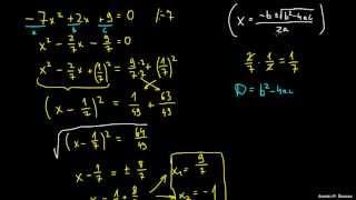 Izpeljava kvadratne enačbe – primer 1