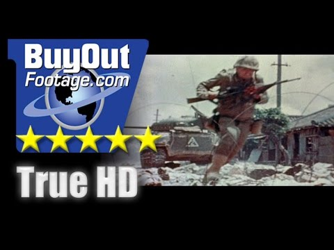 HD Historic Archival Stock Footage WWII Color Battle of Okinawa U.S. Troops on Japanese Soil 1945