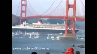 One of the biggest ships in the world and Golden      Wonderful Engineering