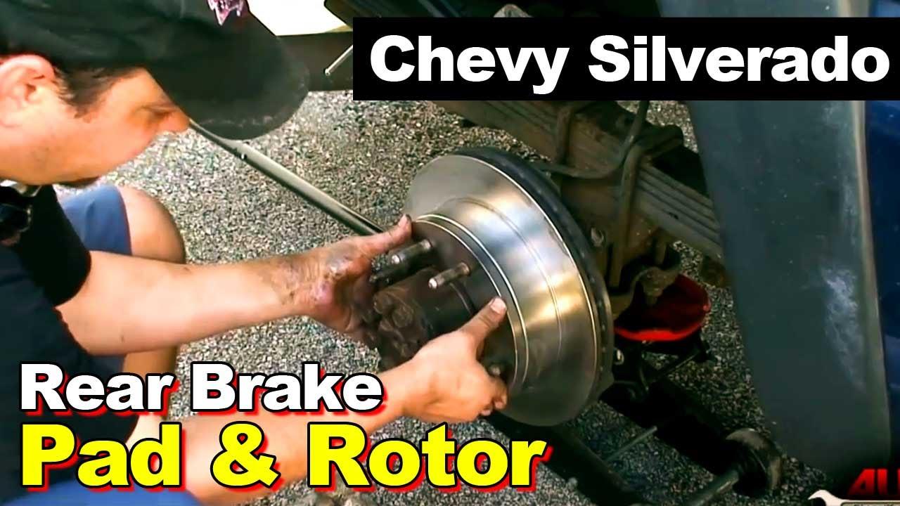 2002 Chevrolet 2500 HD Silverado Rear Brakes and Rotors - YouTube