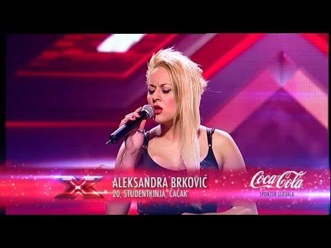 Aleksandra Brkovic (Listen - Beyonce) audicija - X Factor Adria - Sezona 1