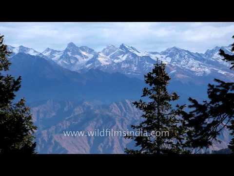 Kuppad view of high Himalayan peaks of Himachal ranges