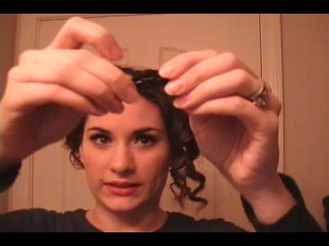pin up girl hair tutorial  simple 1950's hairstyle