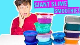 MIXING ALL MY SLIMES! DIY GIANT SLIMESMOOTHIE! Satisfying Slime!