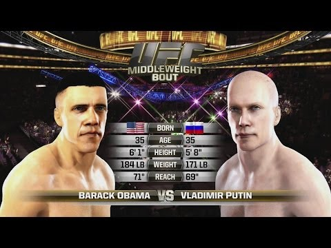 Barack Obama vs Vladimir Putin UFC Celebrity Death Match EA SPORTS