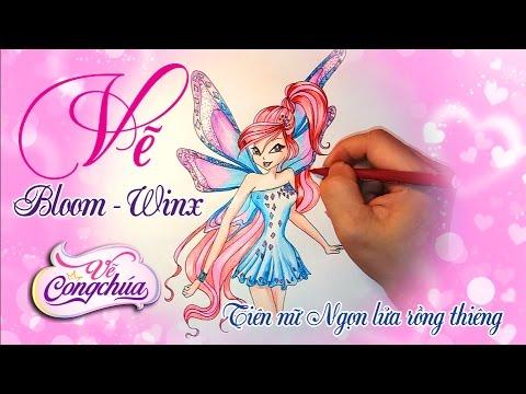 Vẽ Bloom Tiên nữ rồng thiêng - Công chúa phép thuật trong phim hoạt hình WinX Club