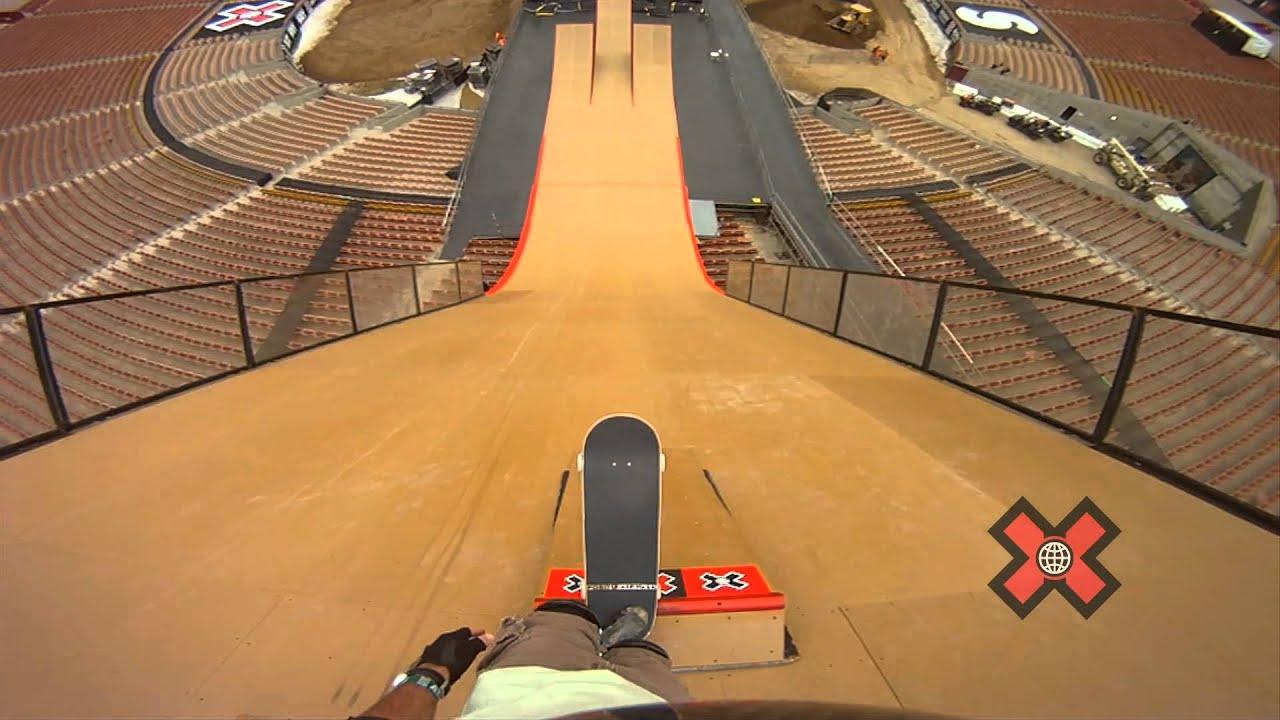 X Games Mega Ramp Skateboarding