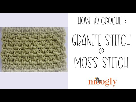 Crochet Stitches Moss Stitch : How to Crochet: Granite Stitch or Moss Stitch - YouTube
