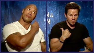 Talking Pain and Gain and how Mark´s son punched Dwayne in the nuts