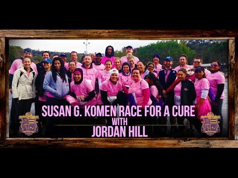 Susan G. Komen Race For The Cure 2014 With Lakers Jordan Hill
