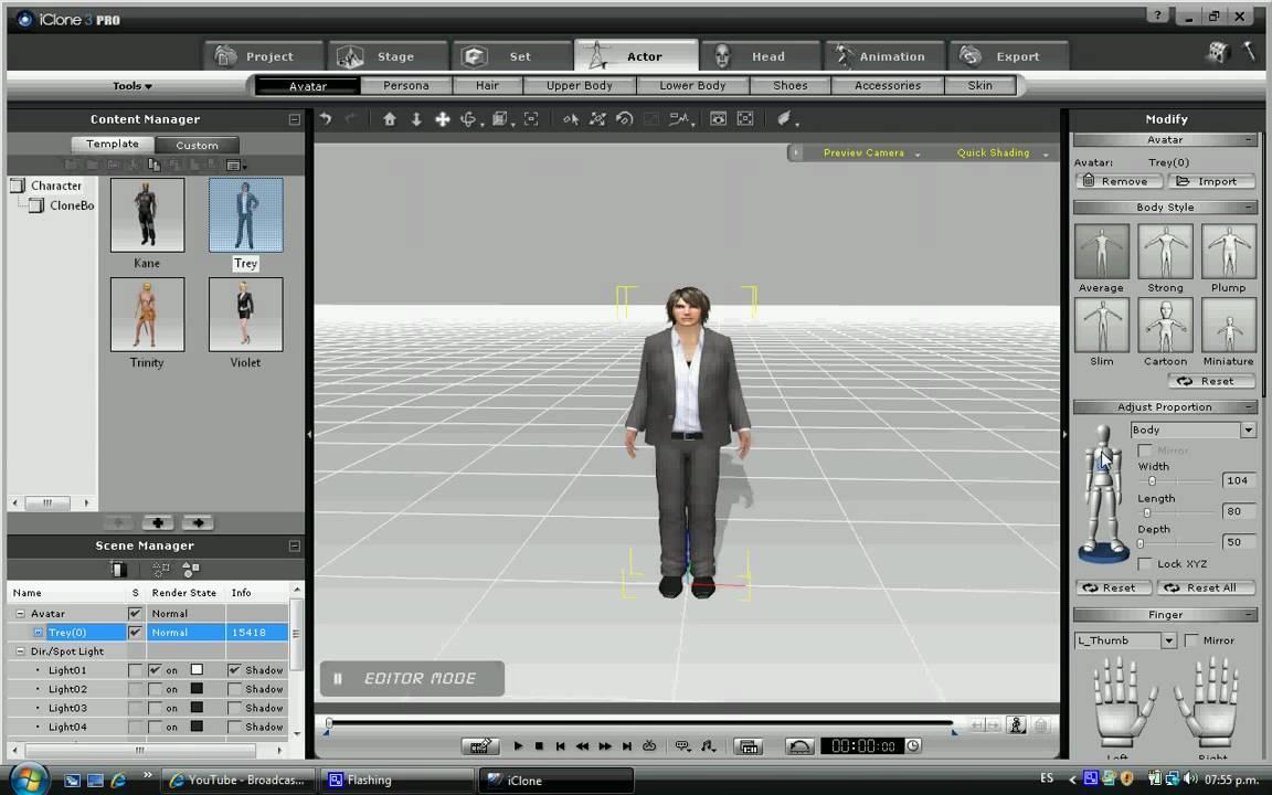Iclone es un software para hacer peliculas en 3d youtube for Programa para disenar cocinas 3d online