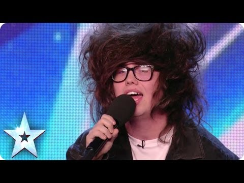 Nick Celino gives a hair-raising performance of Wrecking Ball | Britain's Got More Talent 2014