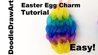 Craft: Easter Egg Charm Rainbow Loom Tutorial Easy