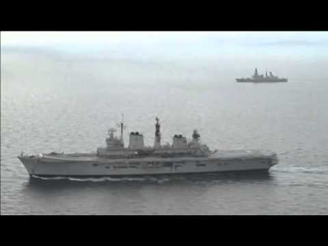 British Aircraft Carrier HMS Illustrious Arrives In The Philippines With Aid