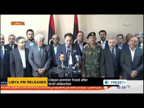 LIBYA Prime Minister Freed Ex Rebels Kidnapped PM Five Days After A US Raid In Tripoli