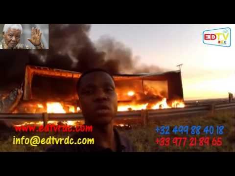 EN ROUTE VERS LES OBSÈQUES DE MANDELA: EDTV TÉMOIN D'UN ACCIDENT GRAVE